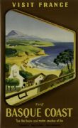 Visit France. The Basque Coast, Vintage French Poster.